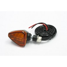 DRC Led Turn Flasher / Blinker/ Signal (12v) (Post Mount) Smoke / Orange