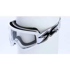 X-BRAND FLAT-OUT GOGGLES, MATTE WHITE