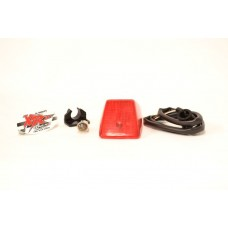 UFO Dual Sport Dual Element Tail Light / Brake Light Conversion Kit - Honda XR600R / XR650R