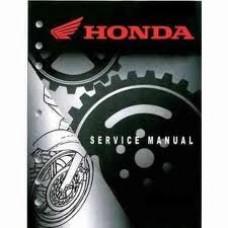 Honda OEM Factory Service Manual - Honda XR50R (00-03)