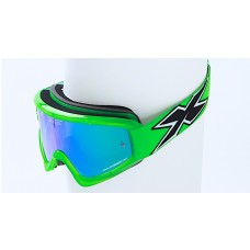 X BRAND LIMITED GOGGLES, Transparent Flo Green