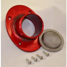 XRs Only Exhaust Pipe Turn Down Tip - USFS Approved Version - RED