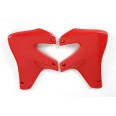 UFO Radiator Shrouds - Honda XR650R - (RED / BLACK)