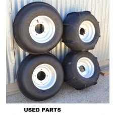 USED QUAD SAND TIRES, COMPLETE SET