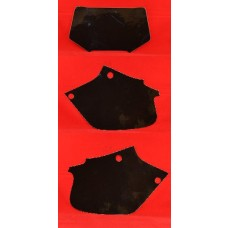 DIRT DIGITS Front Number Plate & Side Panel Vinyl Back Ground (Black) XR250R (96-04) XR400R (96-04)