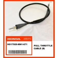 OEM Honda Throttle Cable (B) XR600R, (88-00) PUSH